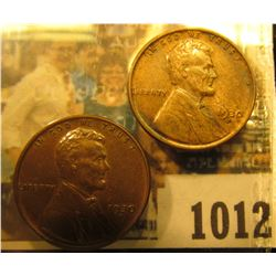 1012 _ Pair of 1930 D Lincoln Cents, both Brown AU to Unc.