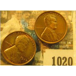 1020 _ Pair of 1927 P Lincoln Cents, both Brown Uncirculated.