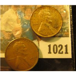 1021 _ Pair of 1927 P Lincoln Cents, both Brown Almost Uncirculated.
