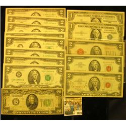 1028 _ (8) Two Dollar Series 1976 Federal Reserve Notes, all grading EF to Crisp Uncirculated; Pair