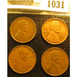 1031 _ 1922 D VF, (2) 23 P EF, & 25 P Brown Unc Lincoln Cents.