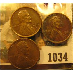 1034 _ (2) 1921 S VF & 22 D VF Lincoln Cents.