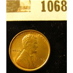 1068 _ 1909 P VDB Lincoln Cent, Red-Brown Uncirculated.