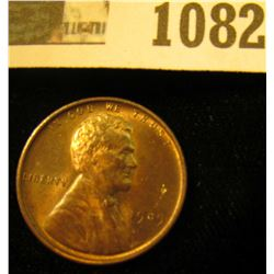 1082 _ 1909 P VDB Lincoln Cent, Red-Brown Uncirculated.