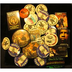 1085 _ (25) Old Pin-backs, several Movie related.