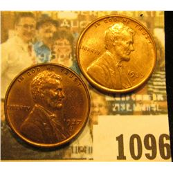 1096 _ Pair of 1937 S Lincoln Cents, Brilliant Red Uncirculated.