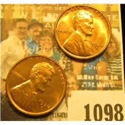 1098 _ Pair of 1936 S Lincoln Cents, Brilliant Red Uncirculated.