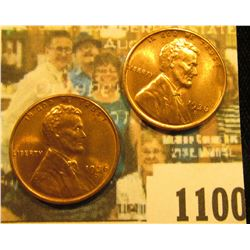 1100 _ Pair of 1936 D Lincoln Cents, Brilliant Red-Brown Uncirculated.