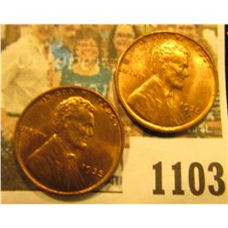 1103 _ Pair of 1935 P Lincoln Cents, Brilliant Red-brown Uncirculated.