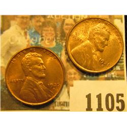 1105 _ Pair of 1935 D Lincoln Cents, mostly Brilliant Red Uncirculated.