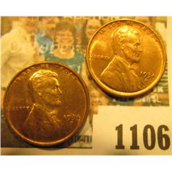 1106 _ Pair of 1934 D Lincoln Cents, both red-brown to Brilliant Red Uncirculated.