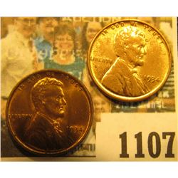 1107 _ Pair of 1934 P Lincoln Cents, both red-brown to Brilliant Red Uncirculated.