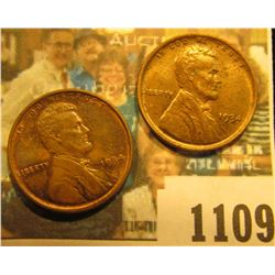 1109 _ Pair of 1934 P Lincoln Cents, both Brown Uncirculated.