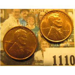 1110 _ Pair of 1934 D Lincoln Cents, Brilliant Red-Brown Uncirculated.