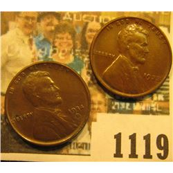 1119 _ 1934 D Lincoln Cent, Brown AU & 33 P Very Fine.