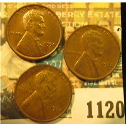 1120 _ Pair of 1932 P AU & 34 D Brown BU Lincoln Cents.