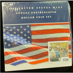 1136 _ 2007 United States Mint Annual Uncirculated Dollar Coin Set in original package as issued. Co