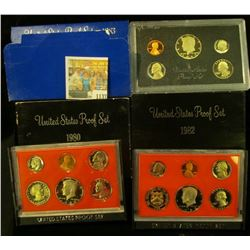 1137 _ 1980 S, 82 S, & 83 S U.S. Proof Sets. Original as issued.