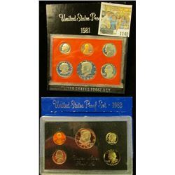 1140 _ 1981 S & 1983 S U.S. Proof Sets. Original as issued.