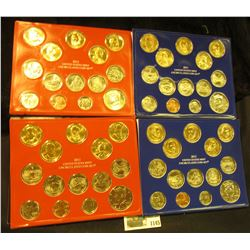 1145 _ 2011 & 2012 U.S. Philadelphia & Denver Uncirculated Coin Sets in original Government issued h