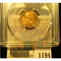 1194 _ 1938 D Lincoln Cent, PCGS slabbed MS65RD