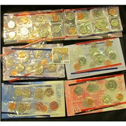 """1216 _ 1995, 96 (no """"W"""" Dime), 97, 98, & 99 U.S. Mint Sets. All original as issued. Red Book Value $"""