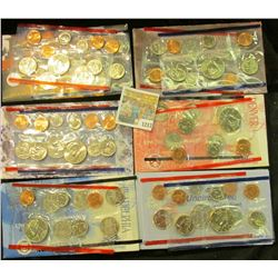 """1217 _ 1995, 96 (no """"W"""" Dime), 97, 98, & 99 U.S. Mint Sets. All original as issued. Red Book Value $"""