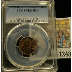 1248 _ 1950 D Lincoln Cent, PCGS slabbed MS65RD.