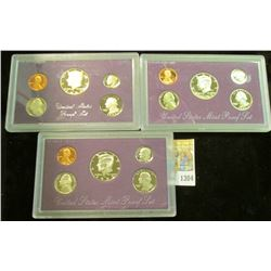 1304 _ 1984S, 92S, & 93S U.S. Proof Sets. Original as issued.