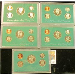1325 _ 1994S, 95S, 96S, 97S, & 98S U.S. Proof Sets. All original as issued.