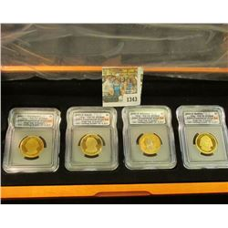 1343 _ First Commemorative Mint Hard Wood Cased Set of slabbed Presidential Dollars. Includes 2007 S