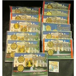 """1345 _ 12-case Set """"Presidential Dollar Series"""" Contains thirty different Dollar coins. Includes (5)"""