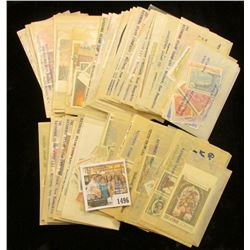 1496 _ Large collection of Foreign Stamps in envelopes with descriptions and prices as sold by vario