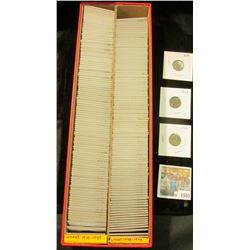 """1505 _ Red 14"""" Double Row Stock Box 90% full of carded, ready for Flea Market 1942-43 World War II e"""