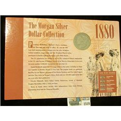 """1519 _ 1880 Micro """"O"""" variety Morgan Silver Dollar with literature from the New Orleans Mint."""