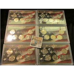 1523 _ (2) 1999, (2) 2000, & (2) 2001 State Series Five-piece Sets in Harris plastic cases. (30 coin