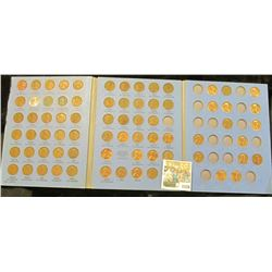 1526 _ 1941-74 Nearly Complete Set of Lincoln Head Cents in a blue Whitman folder. Grades up to BU.