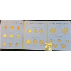 1528 _ Blue Whitman folder with Type Collection of Twentieth Century United States Coins. Includes n