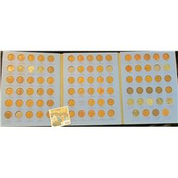 1531 _ 1941-64 Nearly Complete Set of Lincoln Head Cents in a blue Whitman folder. Also includes som