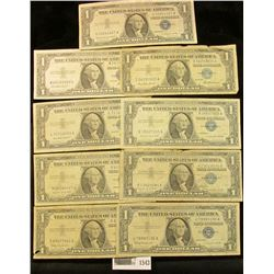 1543 _ (3) Complete Sets of Series 1957 $1, Series 1957A $1, & Series 1957B $1 U.S. Silver Certifica