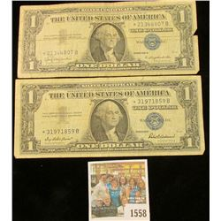 1558 _ Series 1957 & Series 1957B Star Replacement One Dollar Silver Certificates.