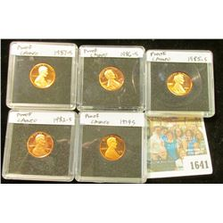 1641 _ 1979S, 82S, 85S, 86S, & 87S Proof Lincoln Cents in special holders.
