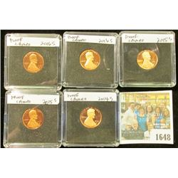 1648 _ 2014 S, (2) 2015 S & (2) 2016 S  Proof Lincoln Cents in special holders.