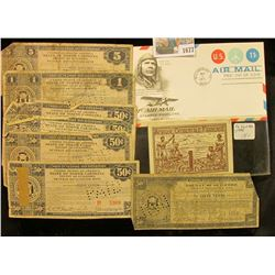 """1677 _ Charles Lindberg 1971 First Day of Issue Cover; 1944 """"Afrique Occidentale Francaise"""" One Fran"""