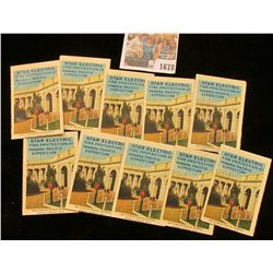 """1678 _ (10 pcs.) """"Star Electric Fire Protection at Panama Pacific Exposition"""" Stamps, all excellent"""