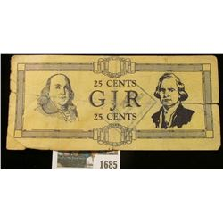 """1685 _ Rare George Junior Republic Scrip from 1933. Doc said it was """"Not Posted Stamped"""" but it appe"""