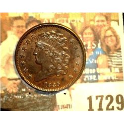 1729 _ 1835 U.S. Half Cent, mostly Brown Uncirculated.