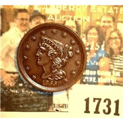 """1731 _ 1855 U.S. Half Cent, graded at the time of his purchase as """"MS63 BR."""". Still a nice high grad"""