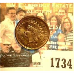 """1734 _ 1907 U.S. Indian Head Cent, Purchased from """"Harley Fenton Ottumwa Show MS 65"""""""