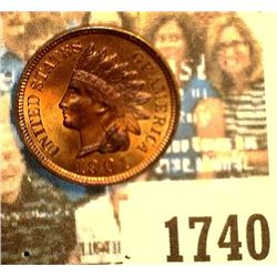 1740 _ 1901 Indian Head Cent, Brilliant Red Uncirculated.